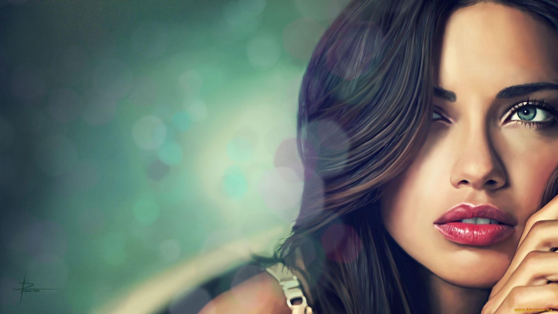 Adriana Lima Face Wallpaper