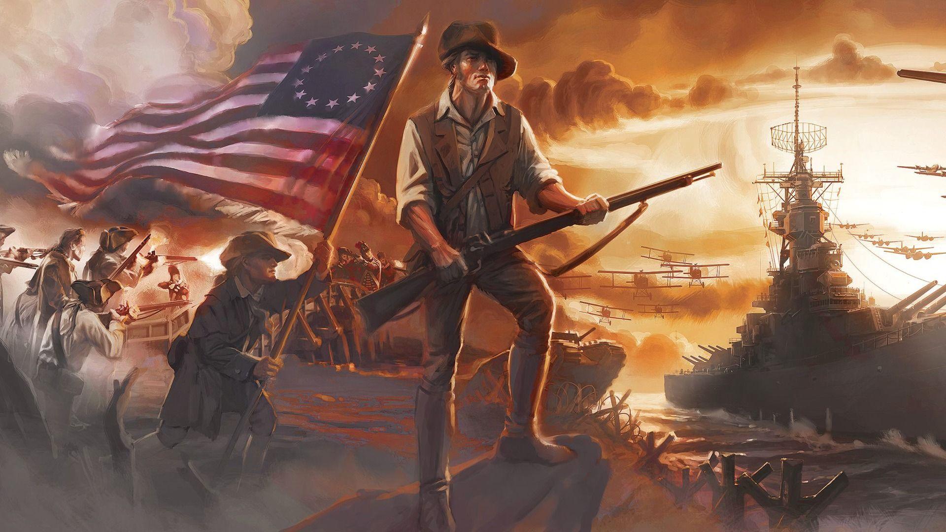 American Revolutionary War Wallpaper
