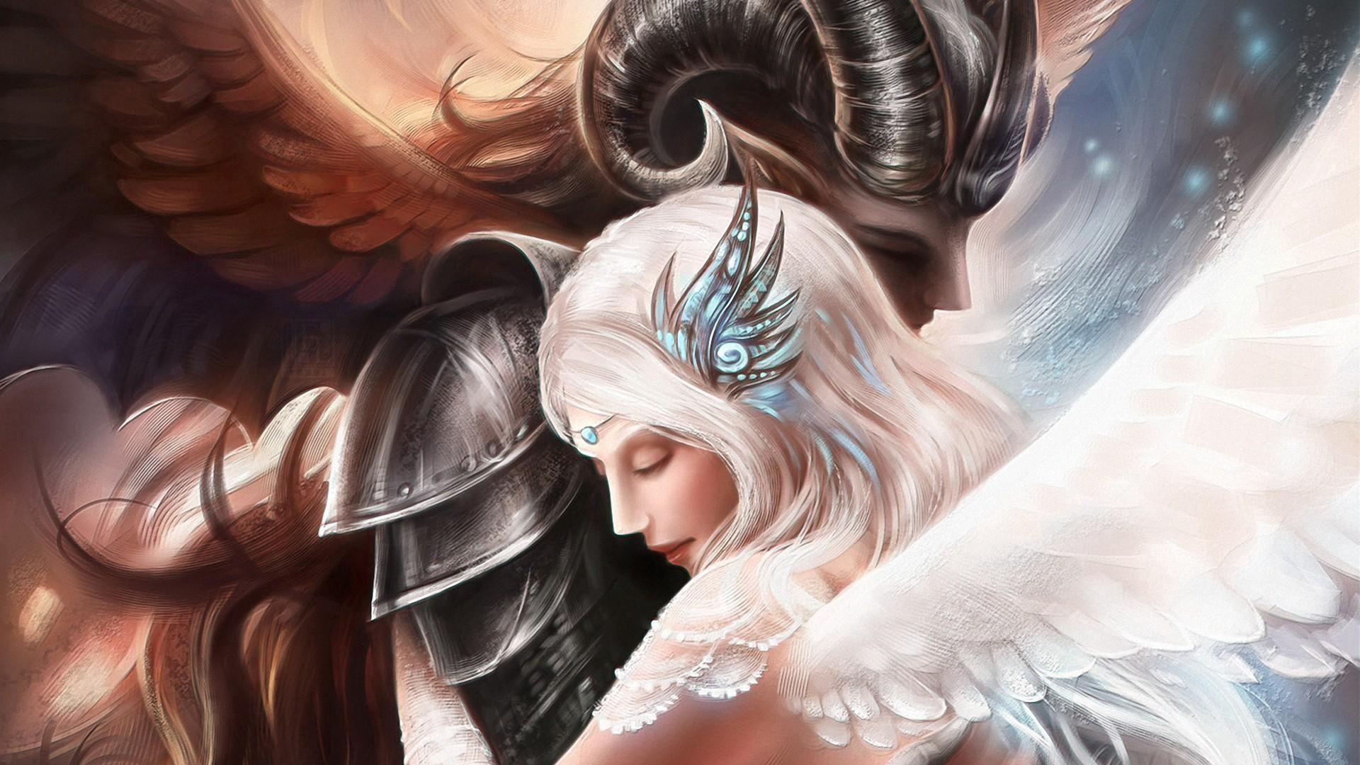 Angel And Demon Love Art