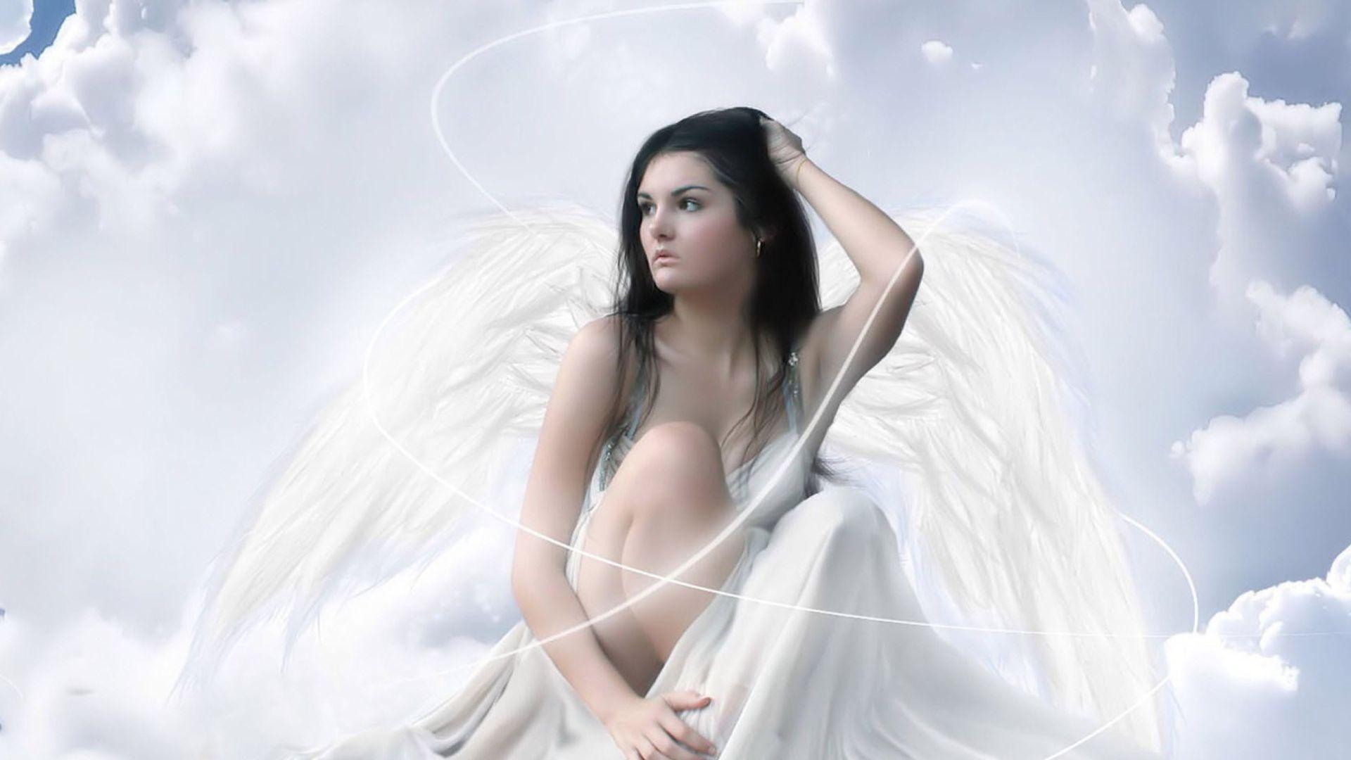 Angel Girl Brunette