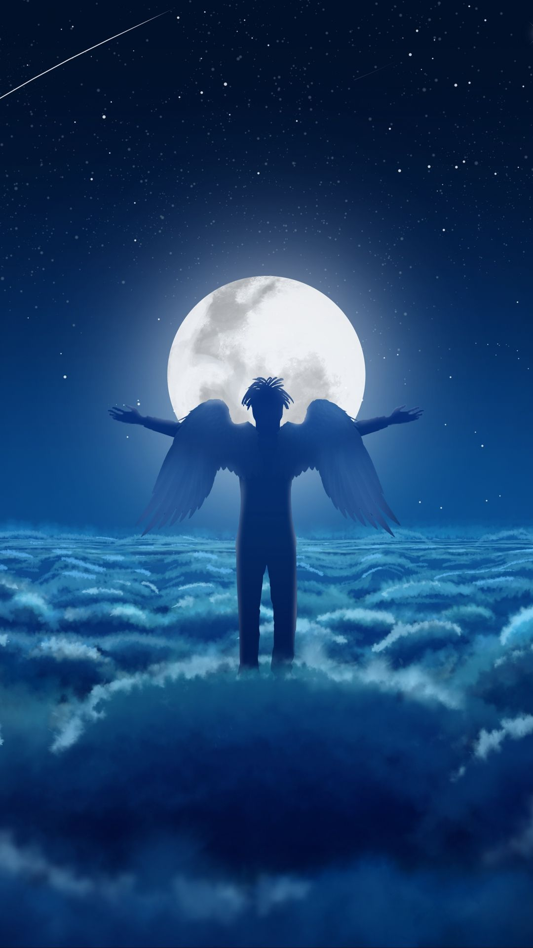 Angel In The Sky On The Moon