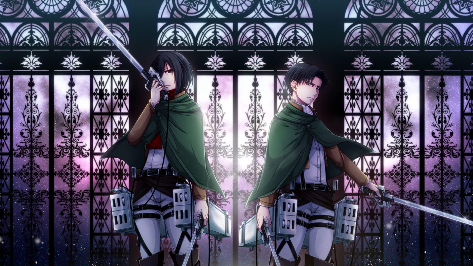 Anime Wallpaper Attack On Titan Levi And Mikasa