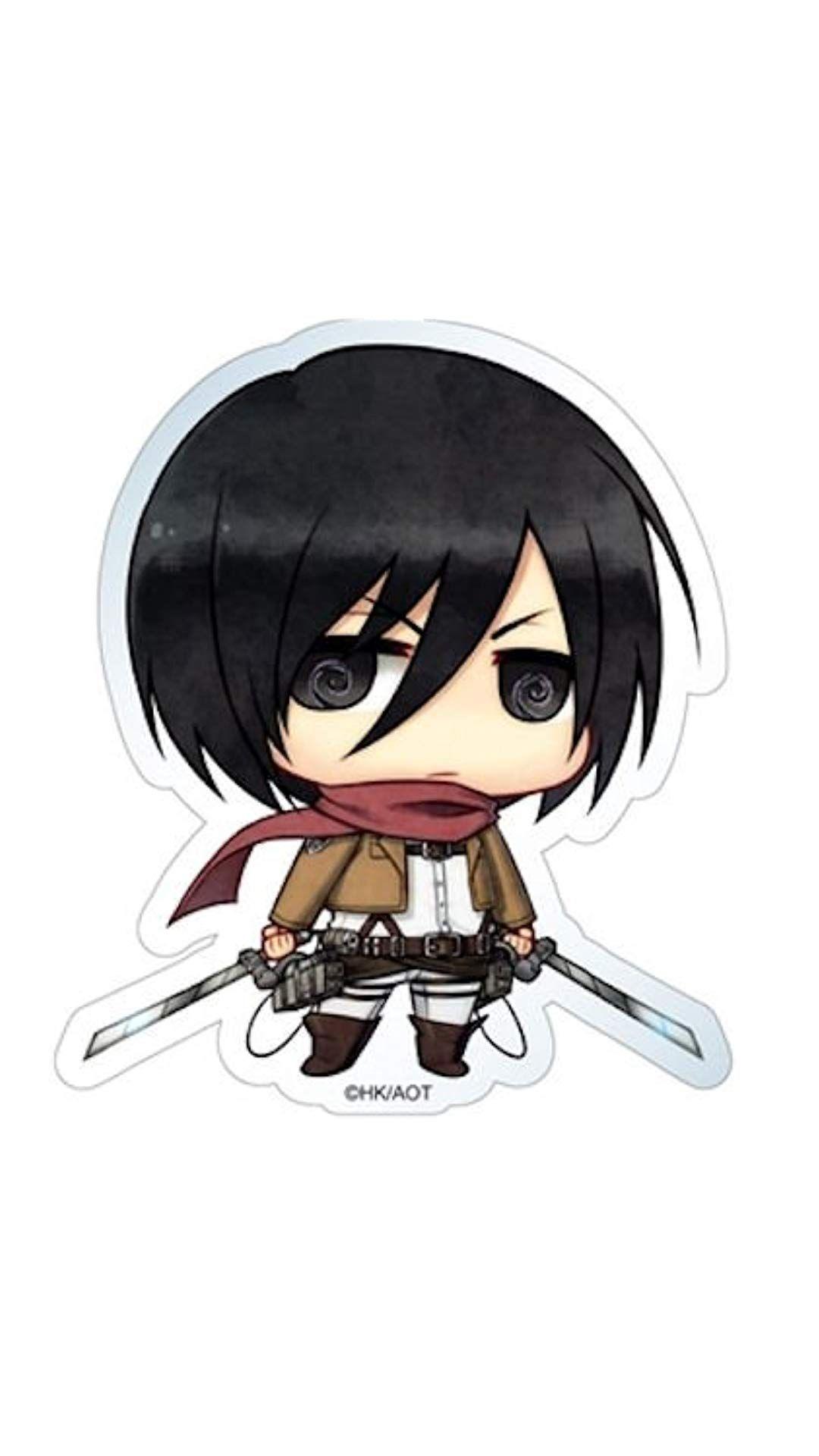 Anime Attack On Titan Chibi Mikasa