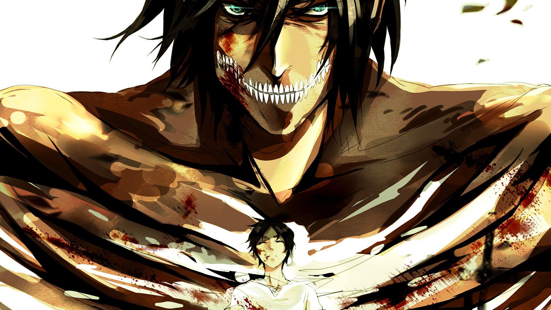 Anime Attack On Titan Eren Titan