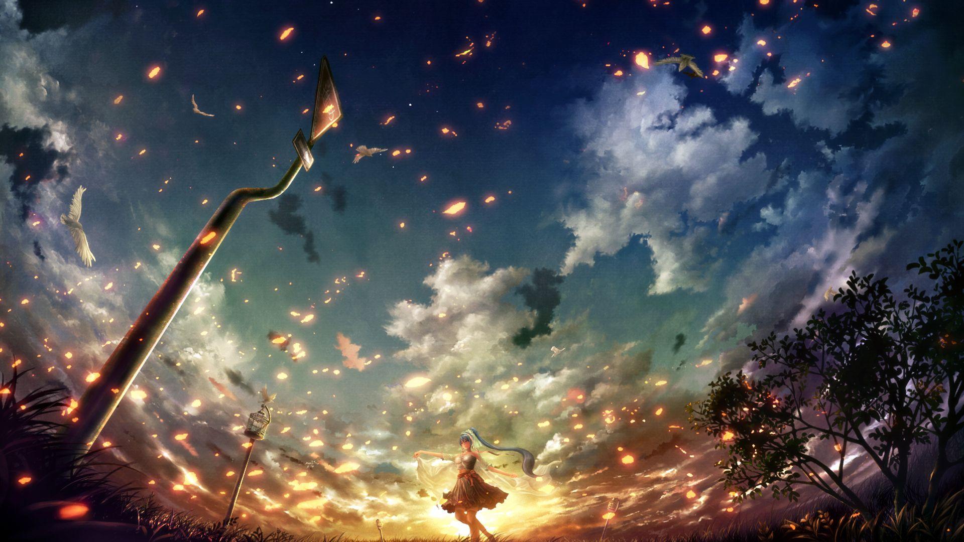 Anime Birds In The Sky