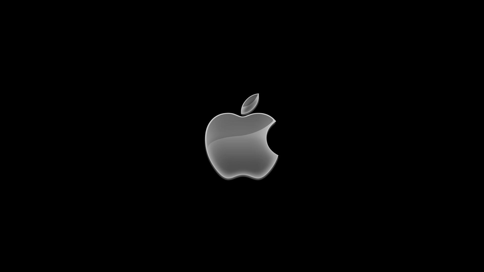 Apple Logo On Black