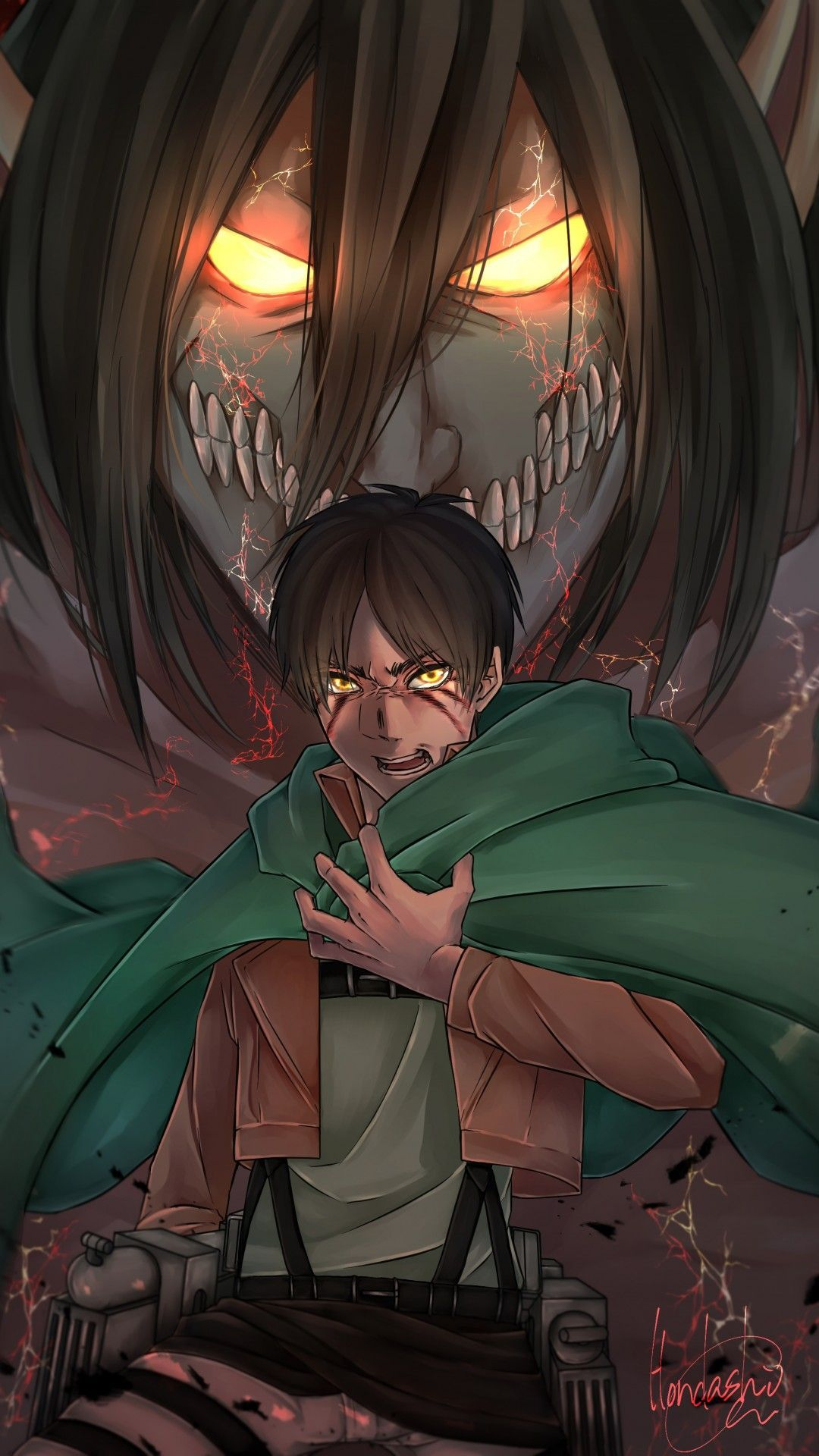 34 Attack On Titan Iphone Wallpapers Wallpaperboat