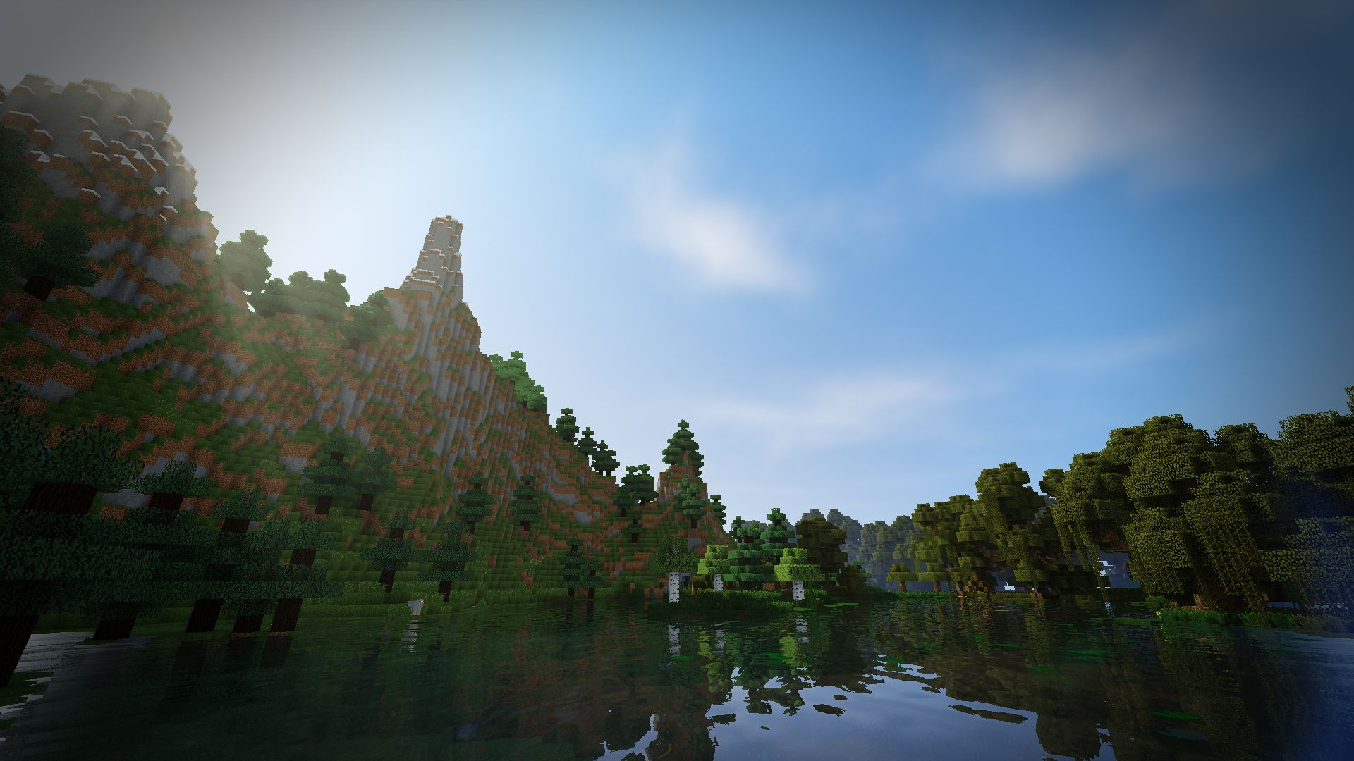 Background Minecraft With Shaders