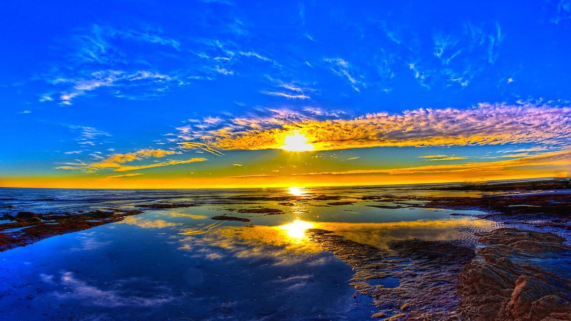 Beautiful Wallpapers Images Sea Ocean Sunrise
