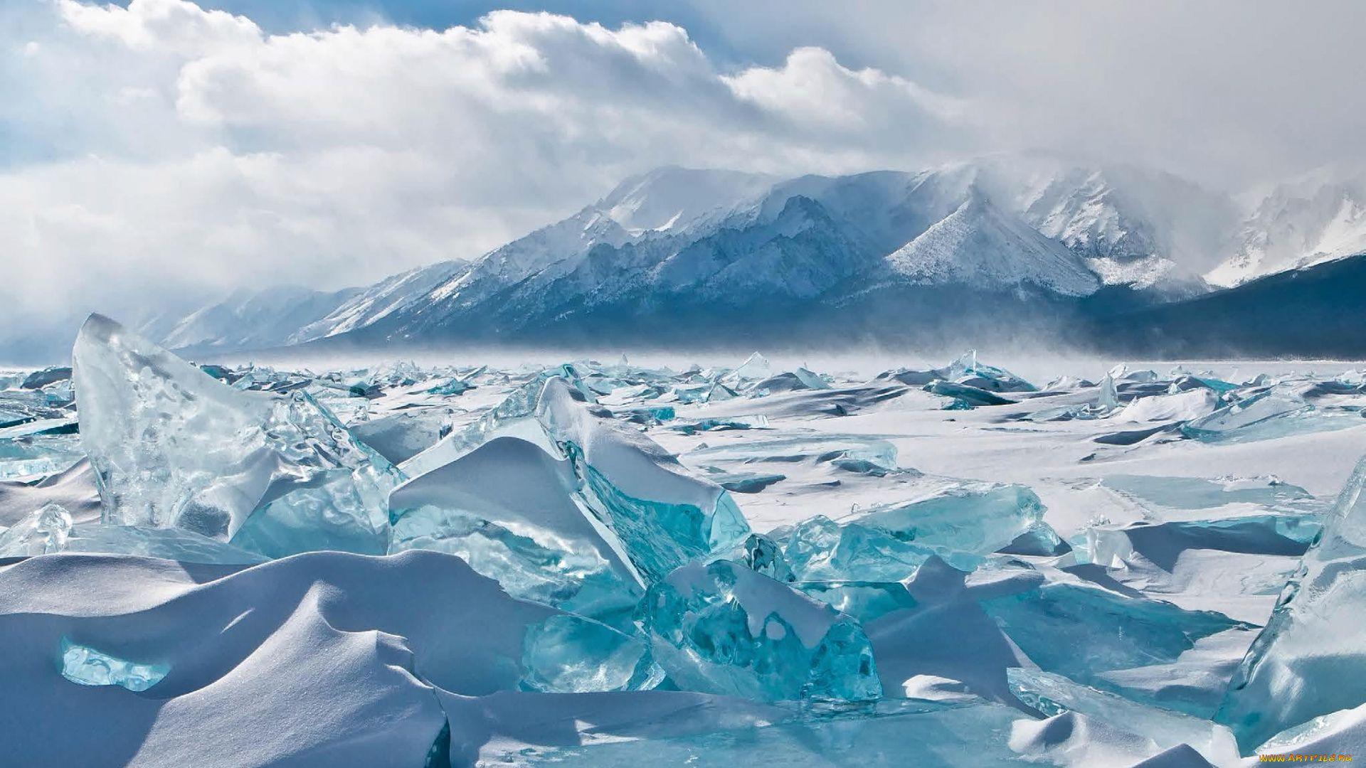 Beautiful Ice Of Lake Baikal