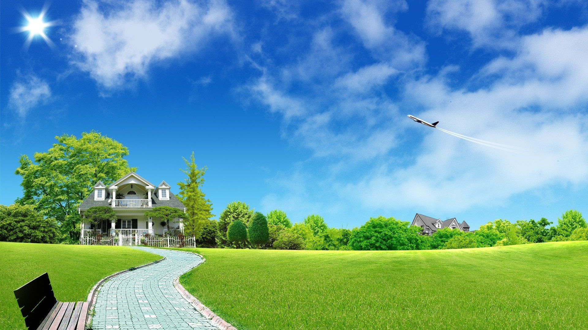 Building On Nature Background