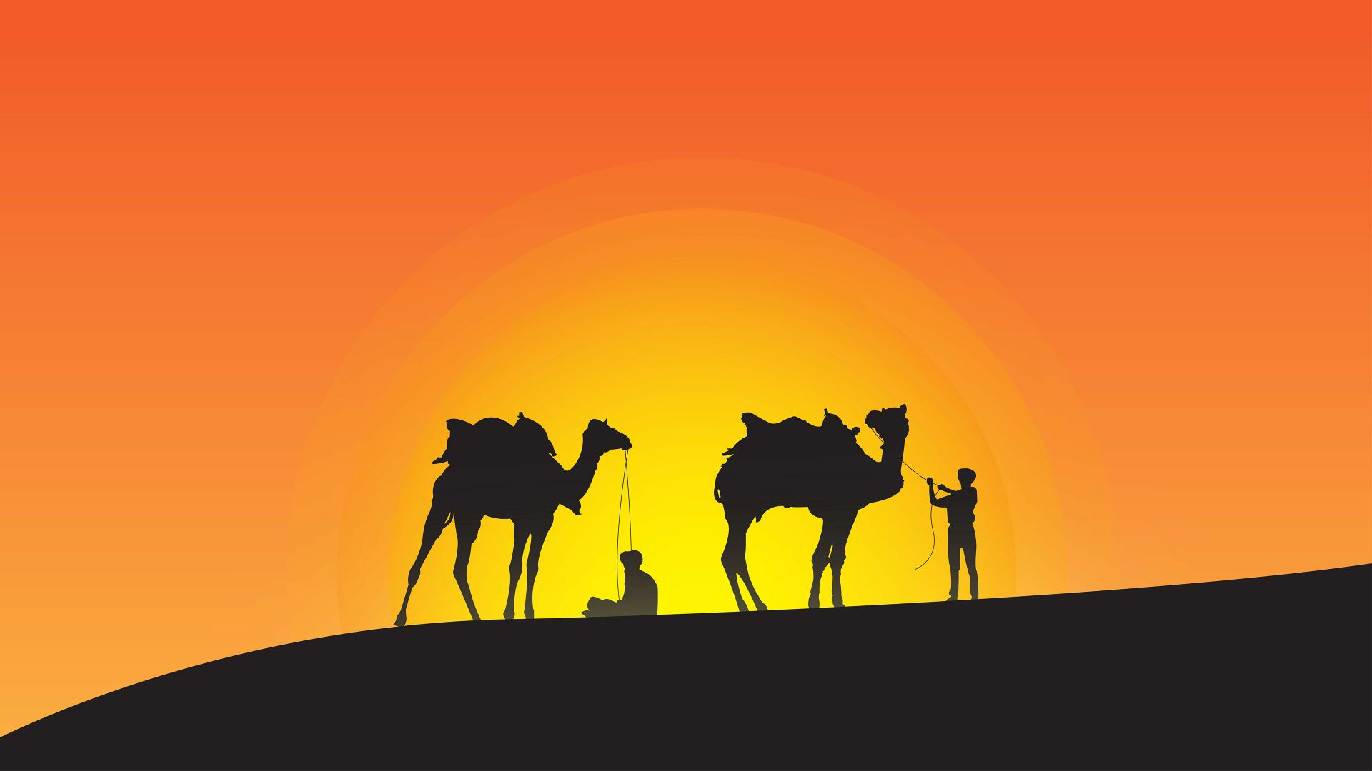 Camel Caravan Pattern