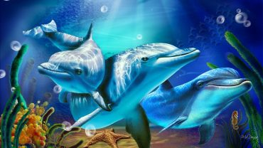 Diamond Mosaic Dolphins