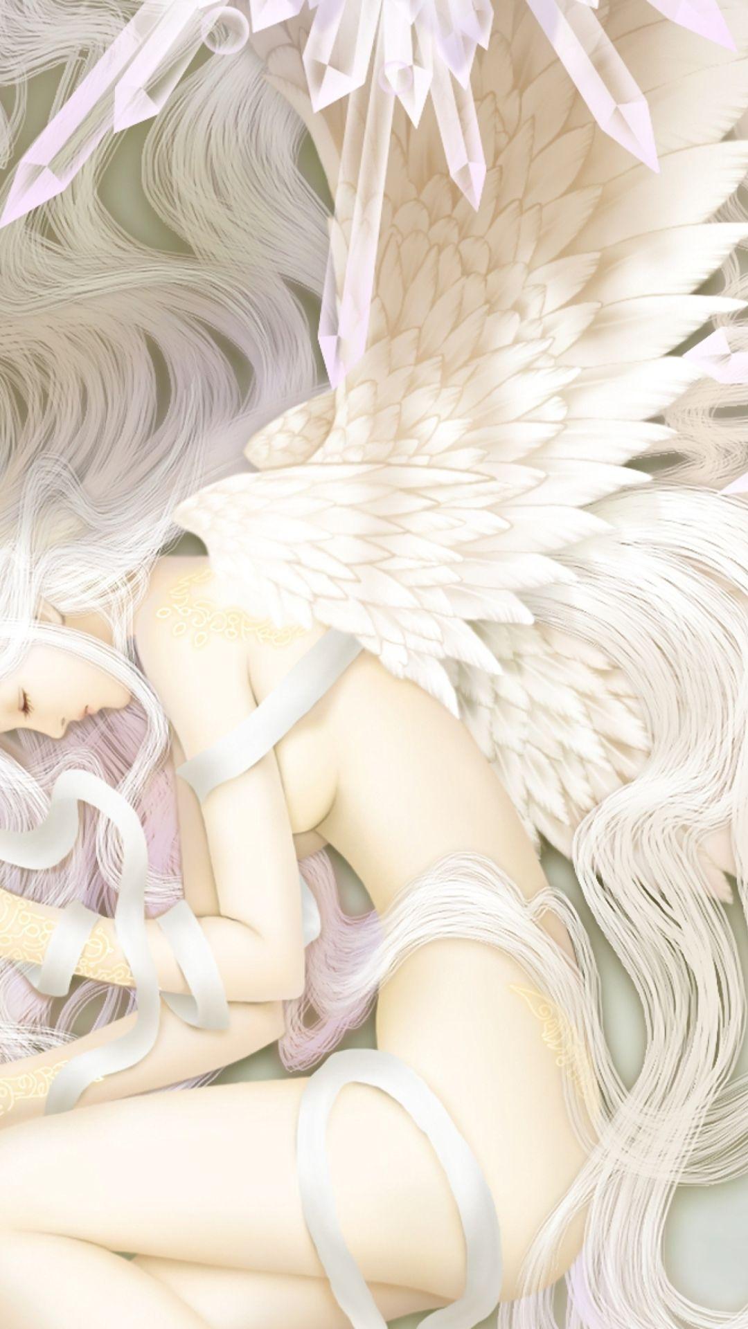 Girl With Angel Wings Art