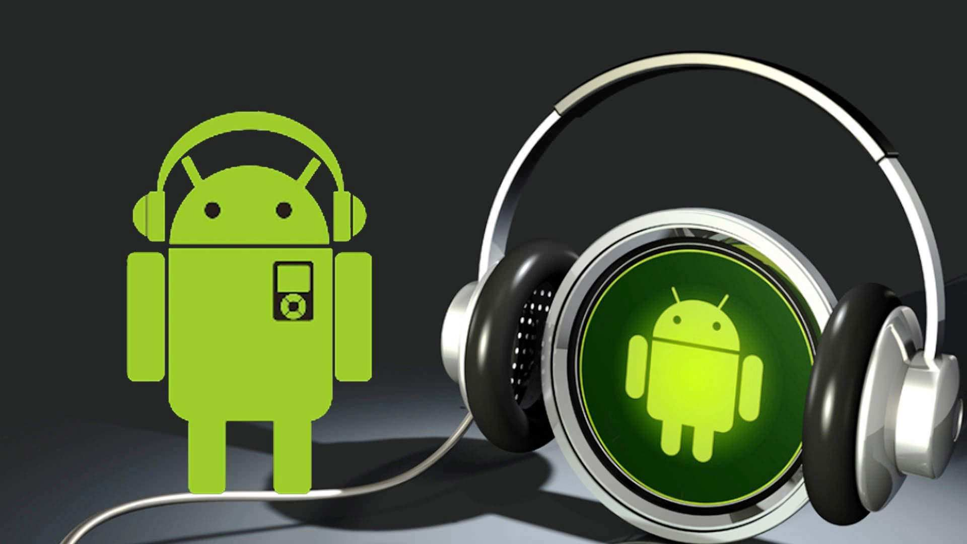 Green Android Headphones