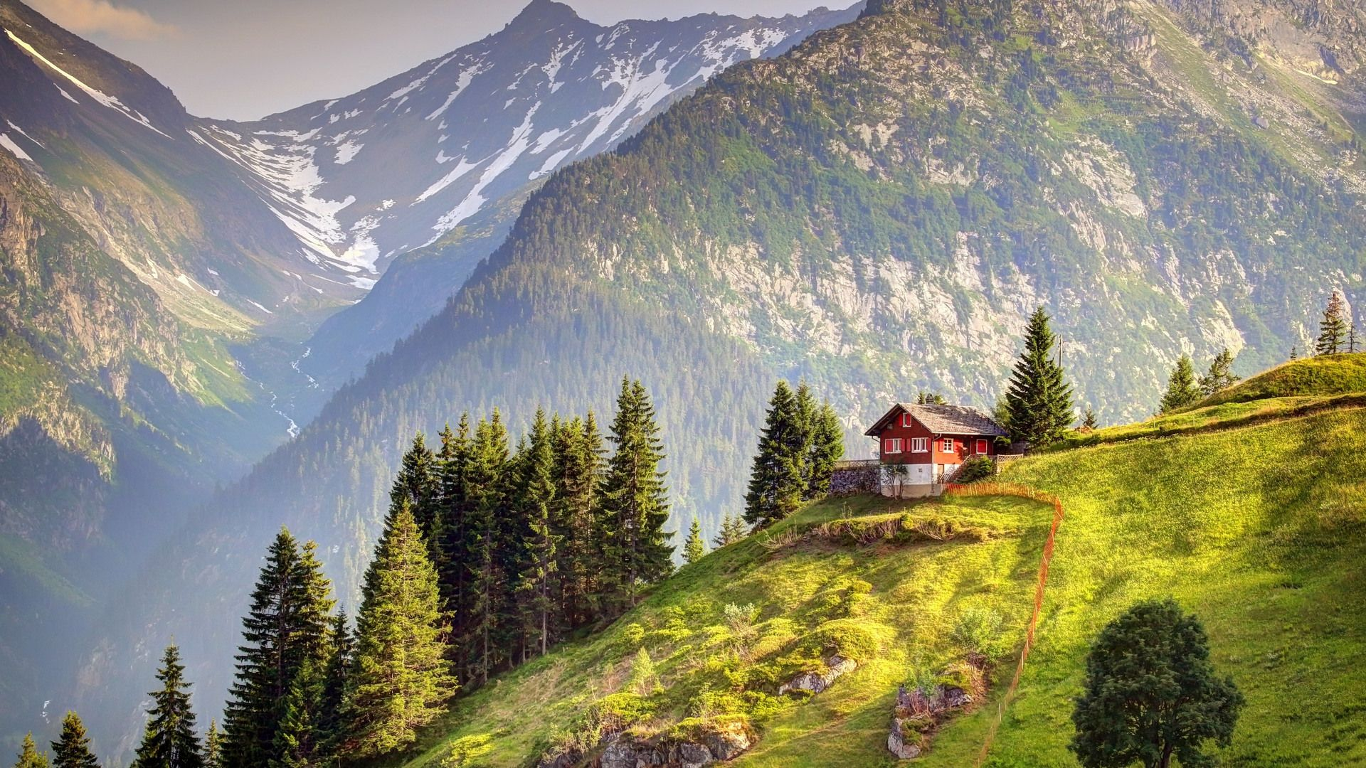House In The Swiss Mountains Photo
