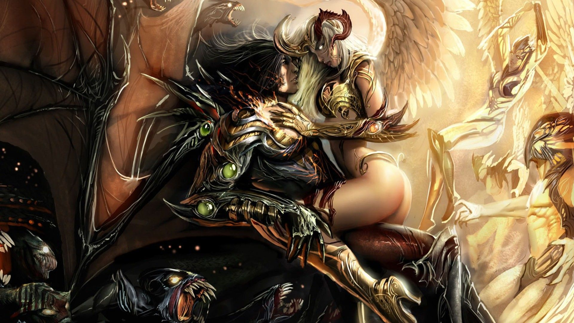 Images Of Fantasy Angels And Demons
