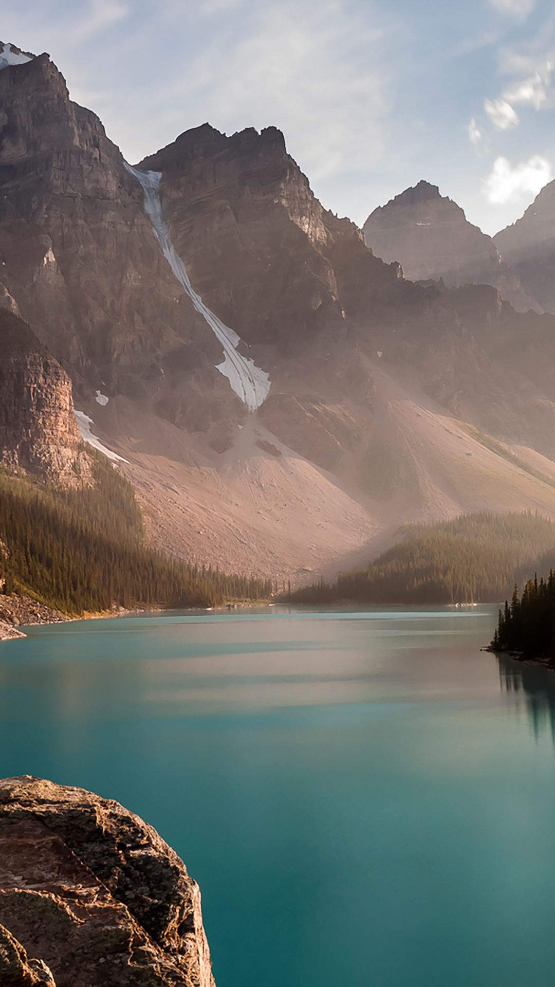 Lake In The Mountains Wallpaper