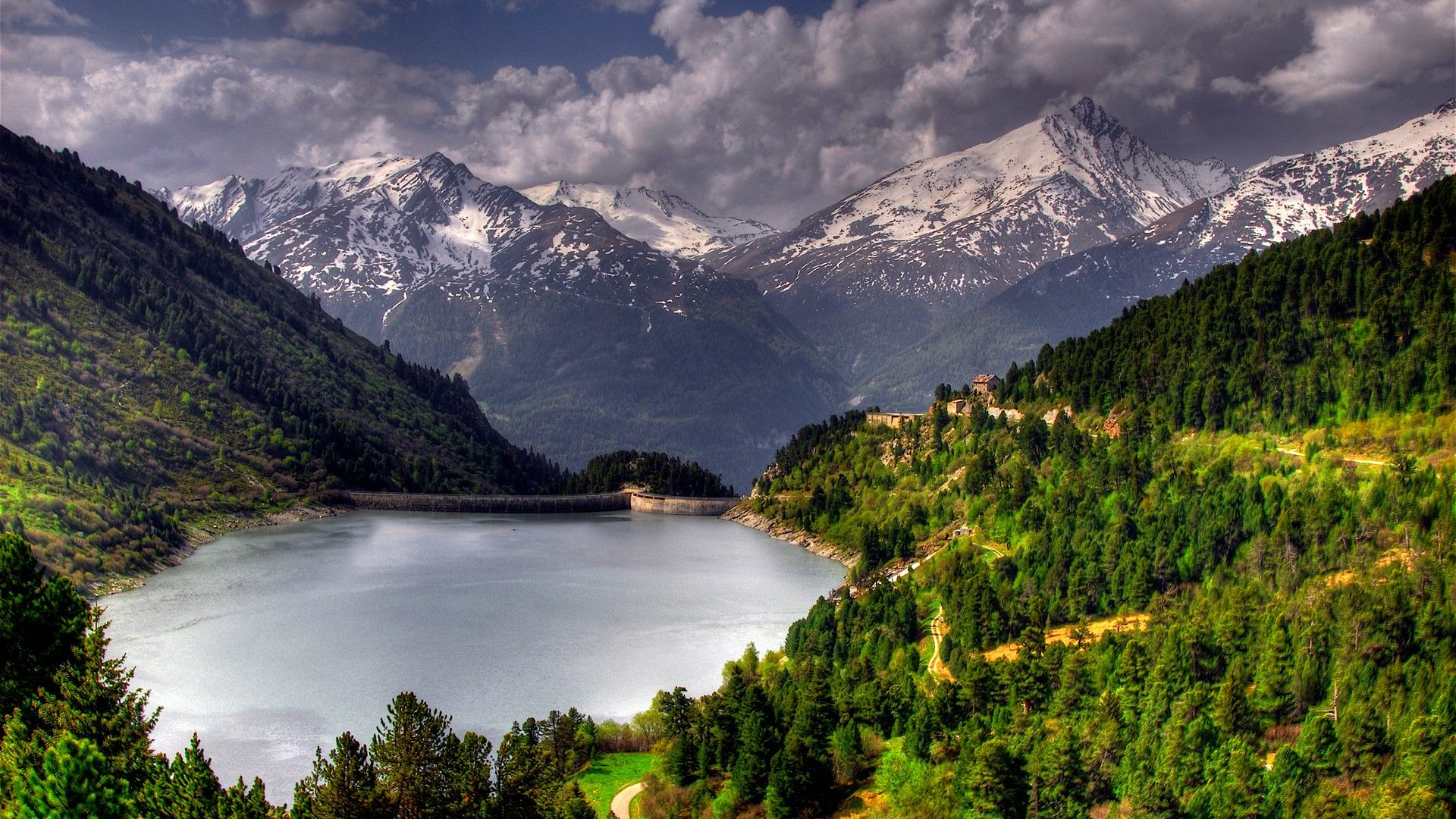 Lake In The Mountains Photo