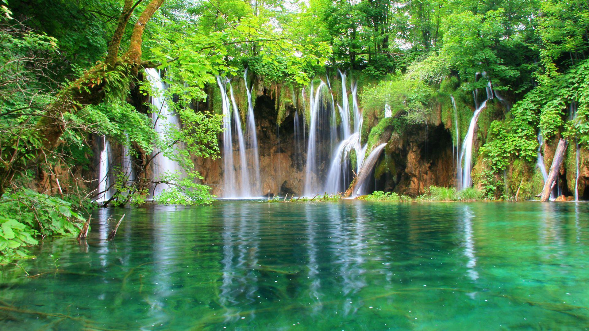 Lake With Waterfall