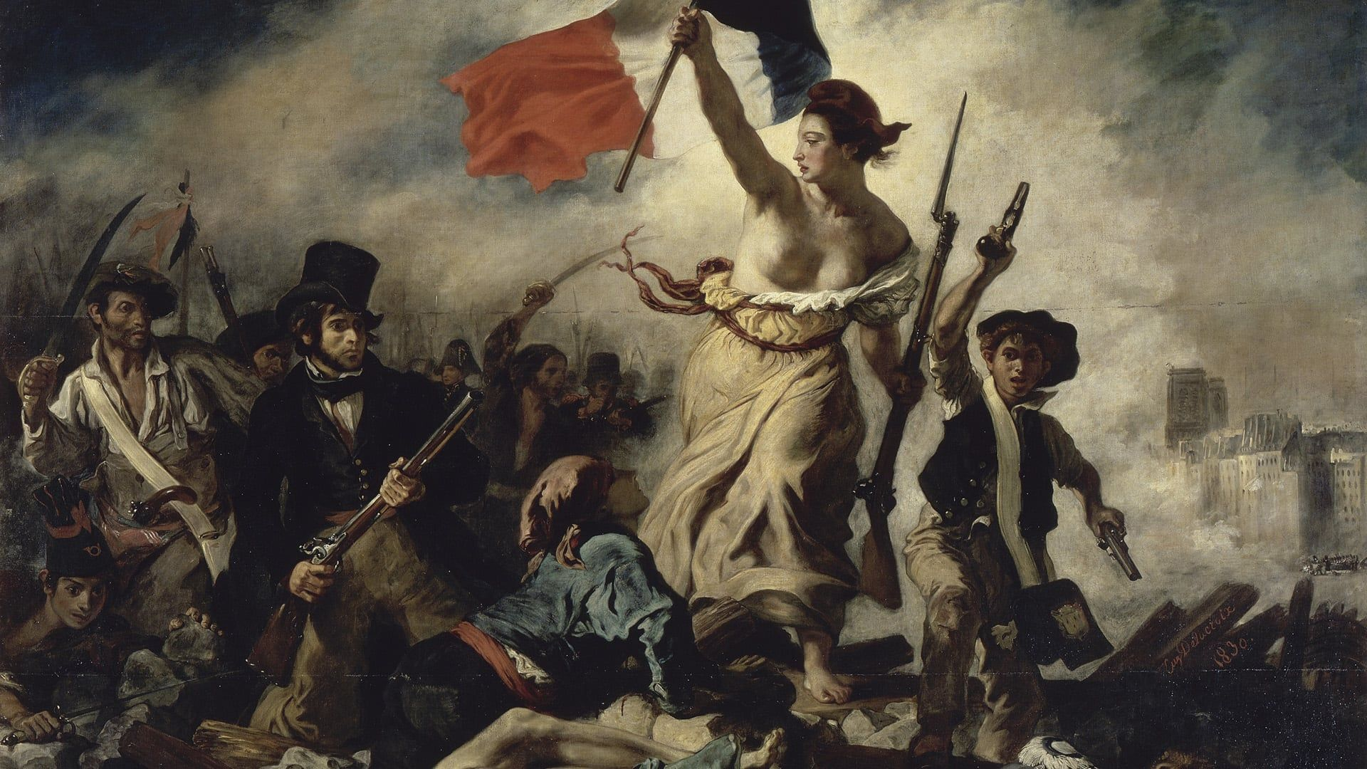 Liberty At The Barricades By Delacroix