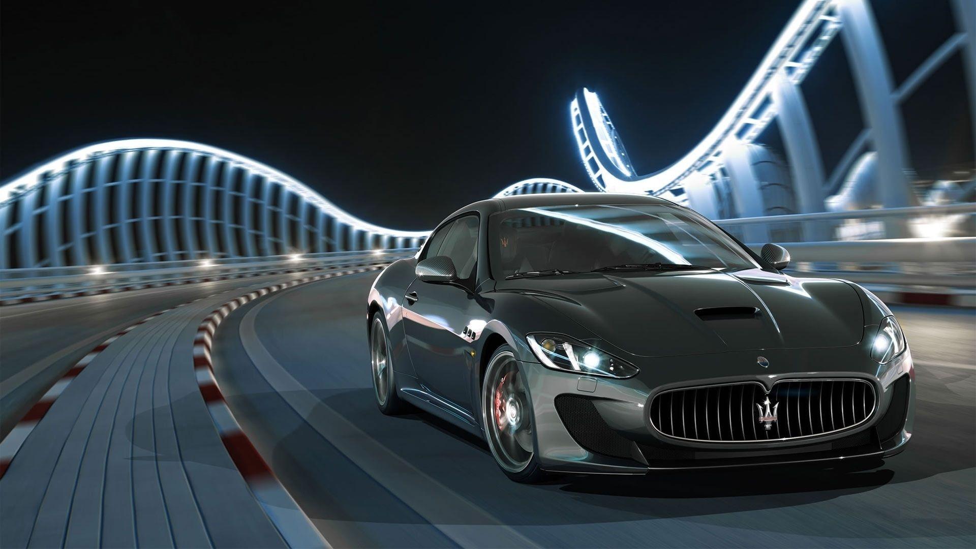 Maserati Granturismo Black Wallpaper