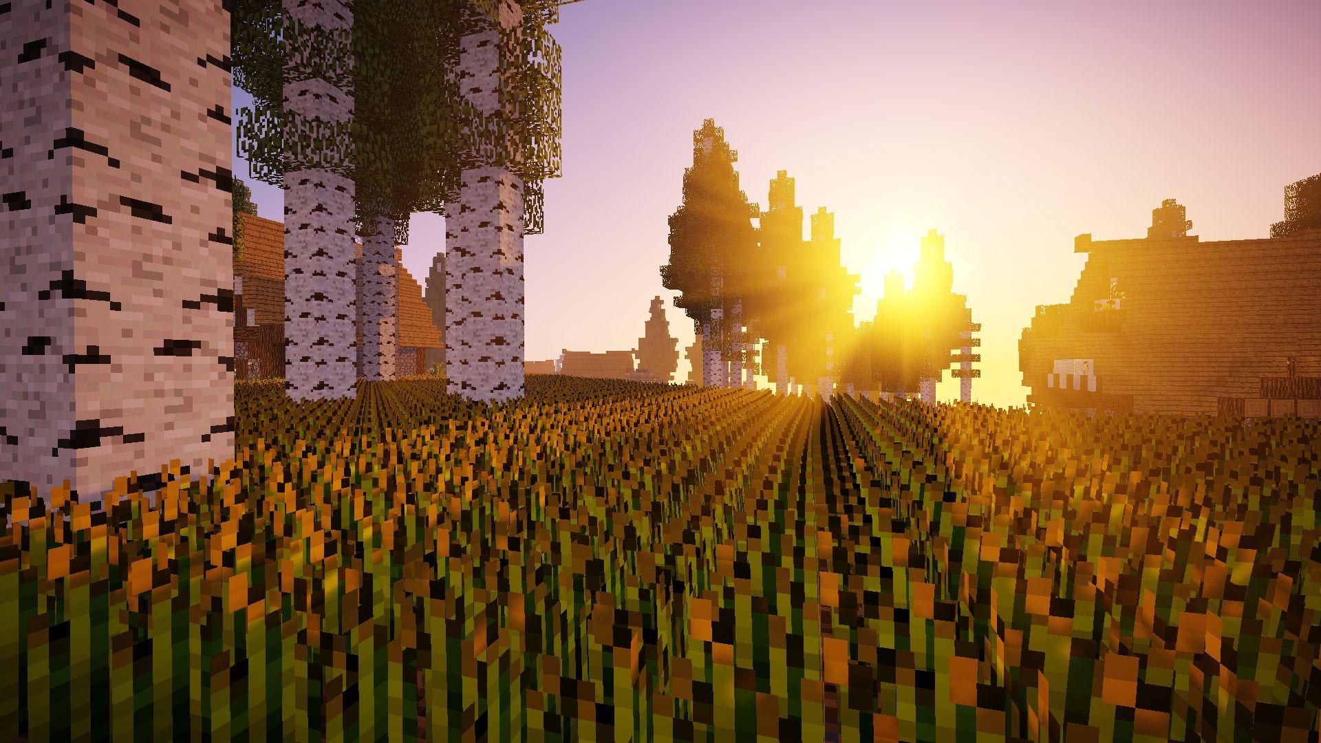 Minecraft Background Shaders