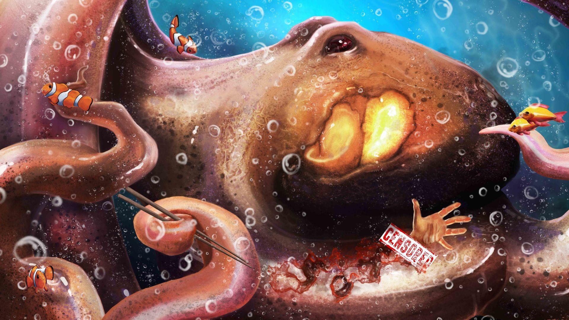 Monster Octopus Art