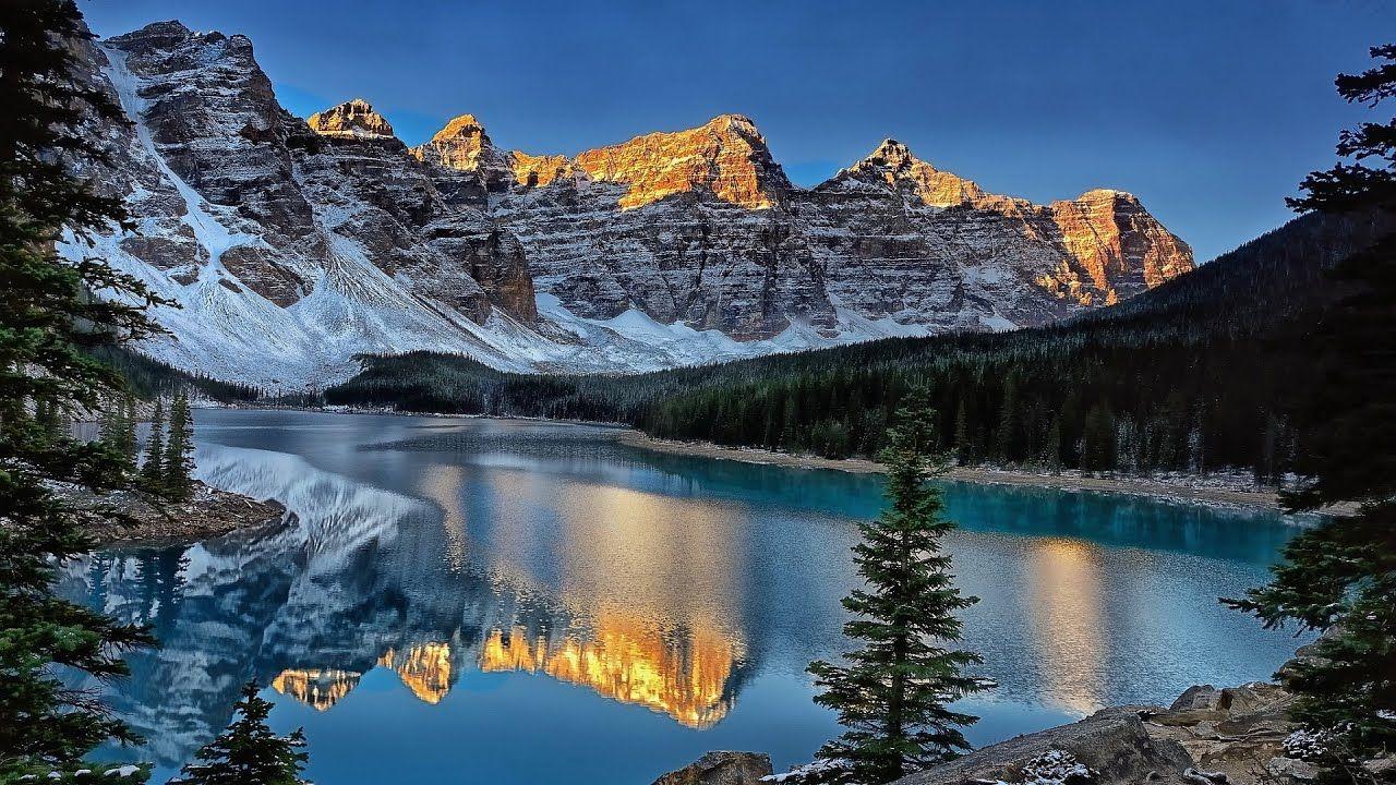Moraine Lake Canada Sunset