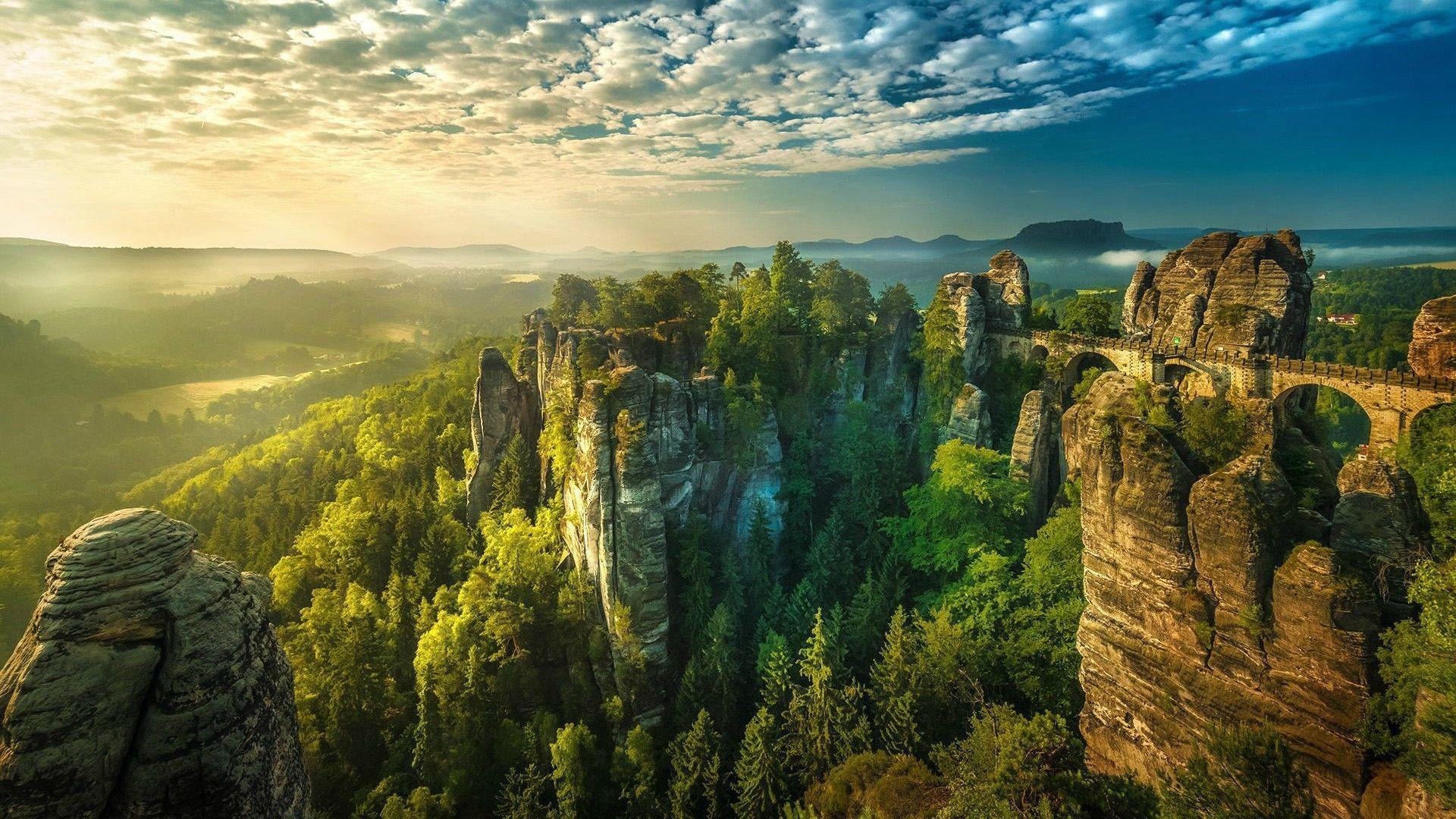 Mountains Bastei Germany