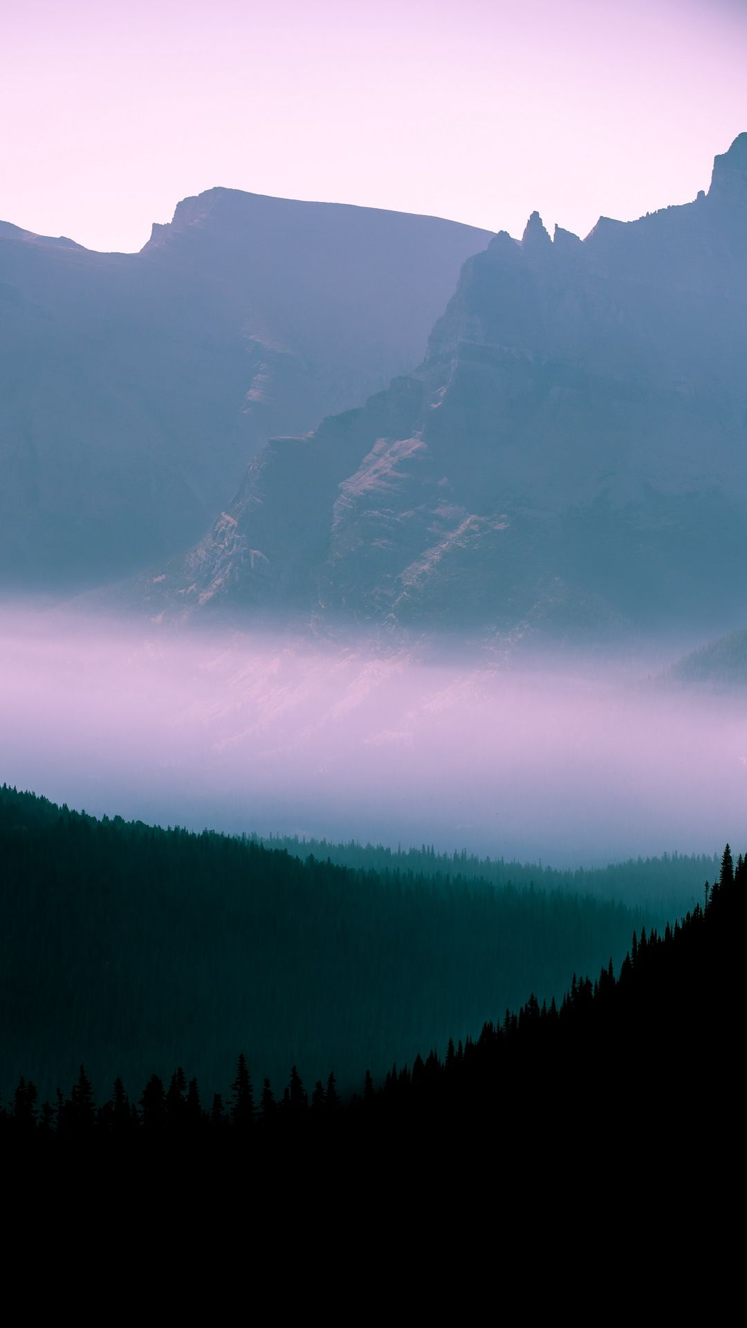Mountains Fog Wallpapers Ios