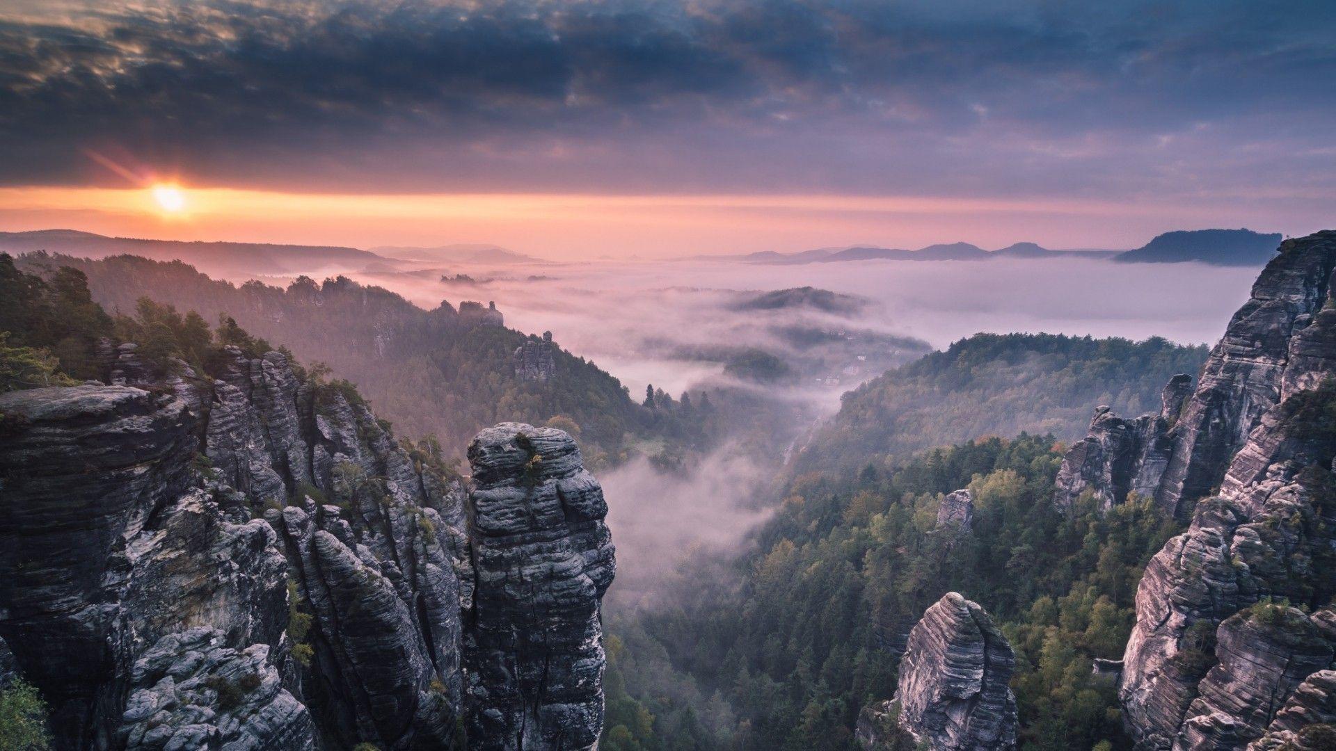 Nature Mountain Fog