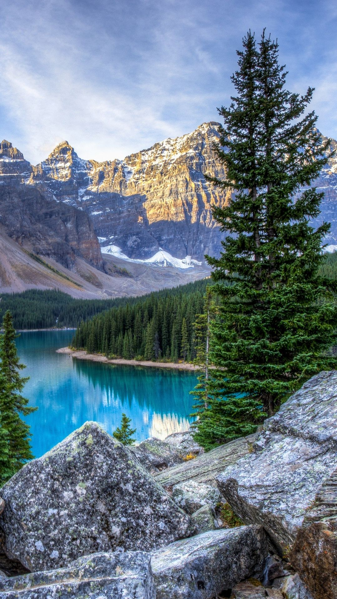 Nature Mountains Lake Photo Vertical