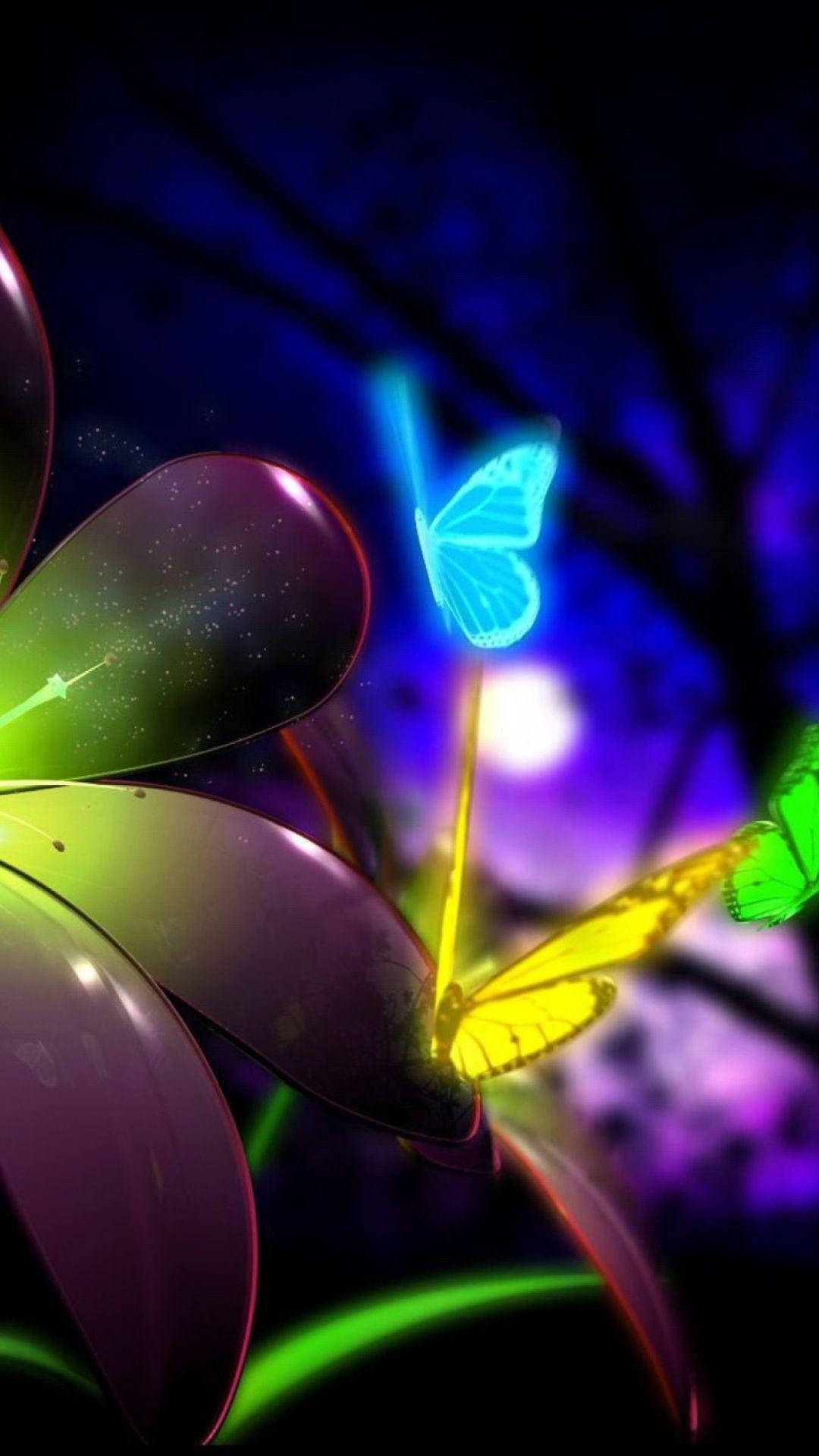 Neon Butterflies Pictures