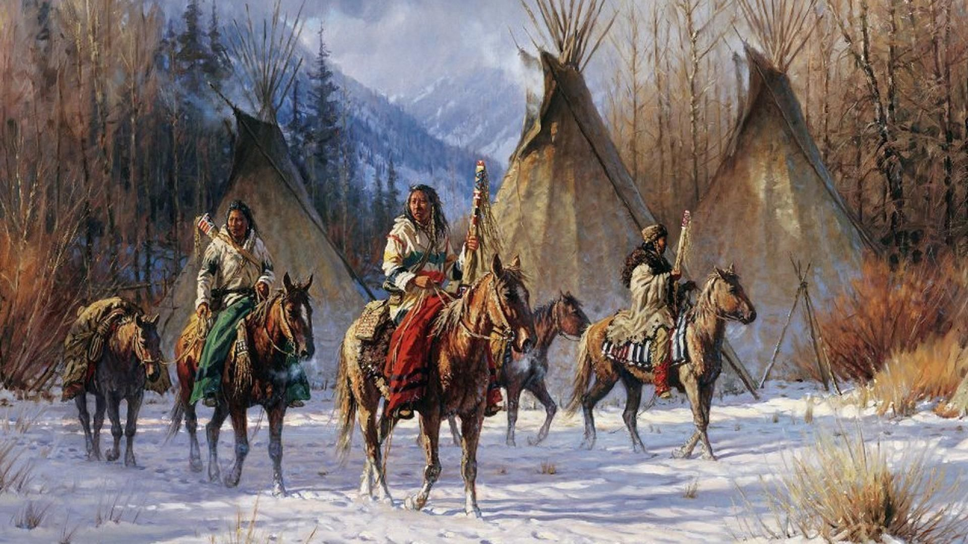 Paintings Of The Indians Of North America