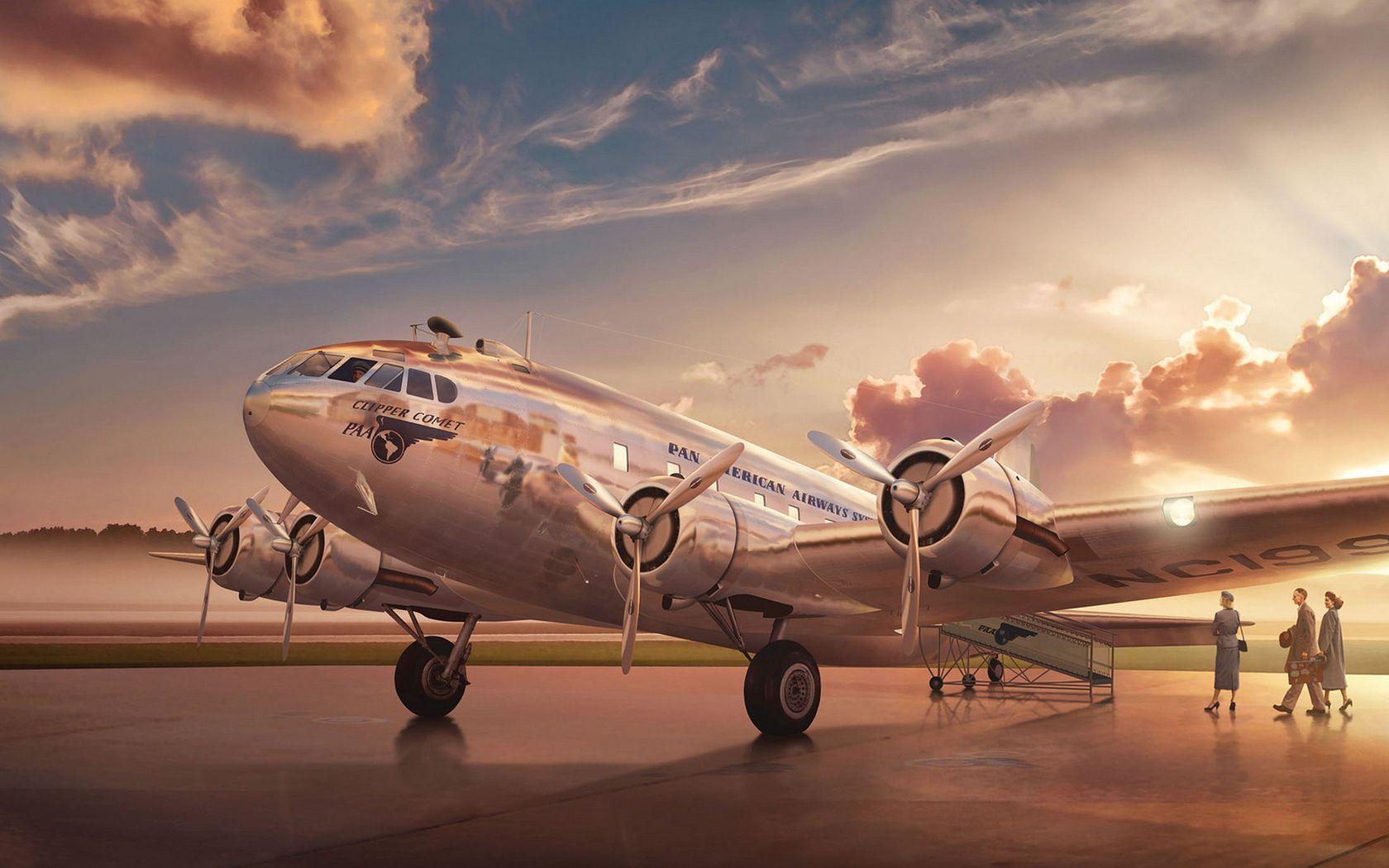 Passenger Airplane Art