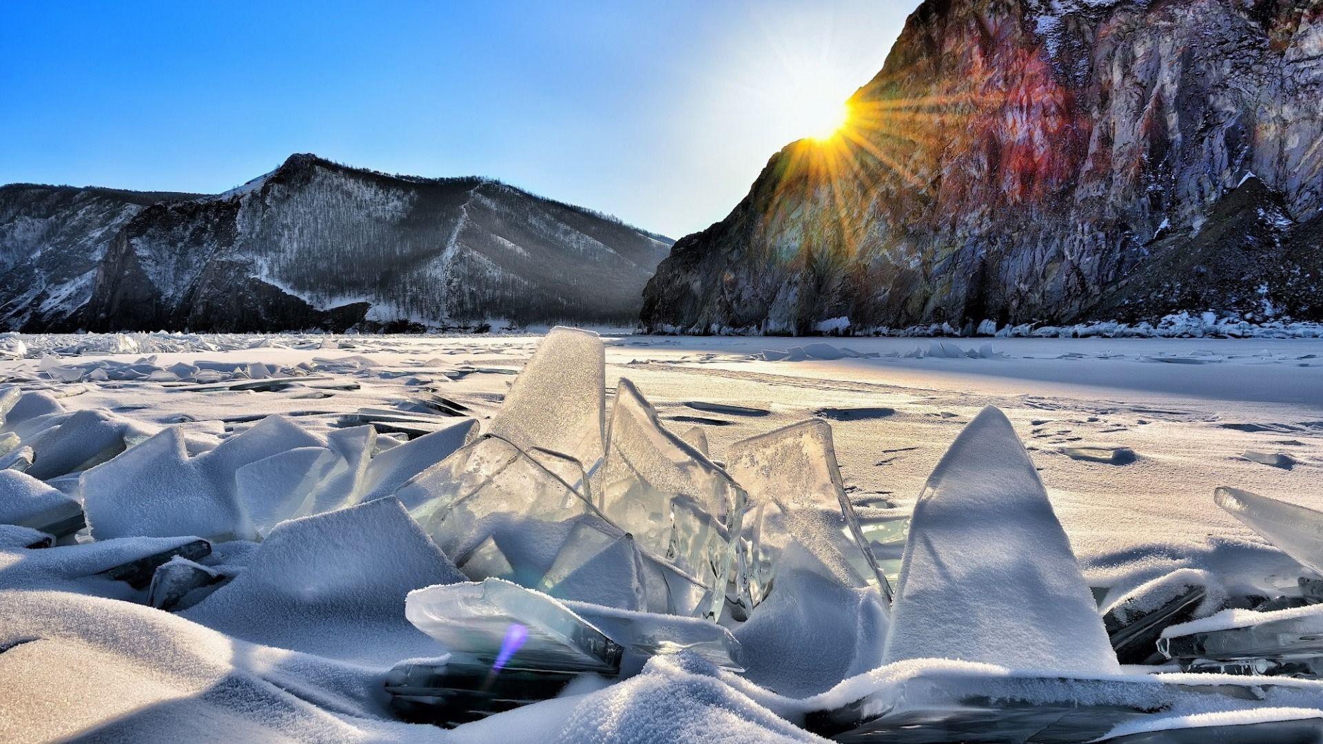Photo Baikal Ice Sun