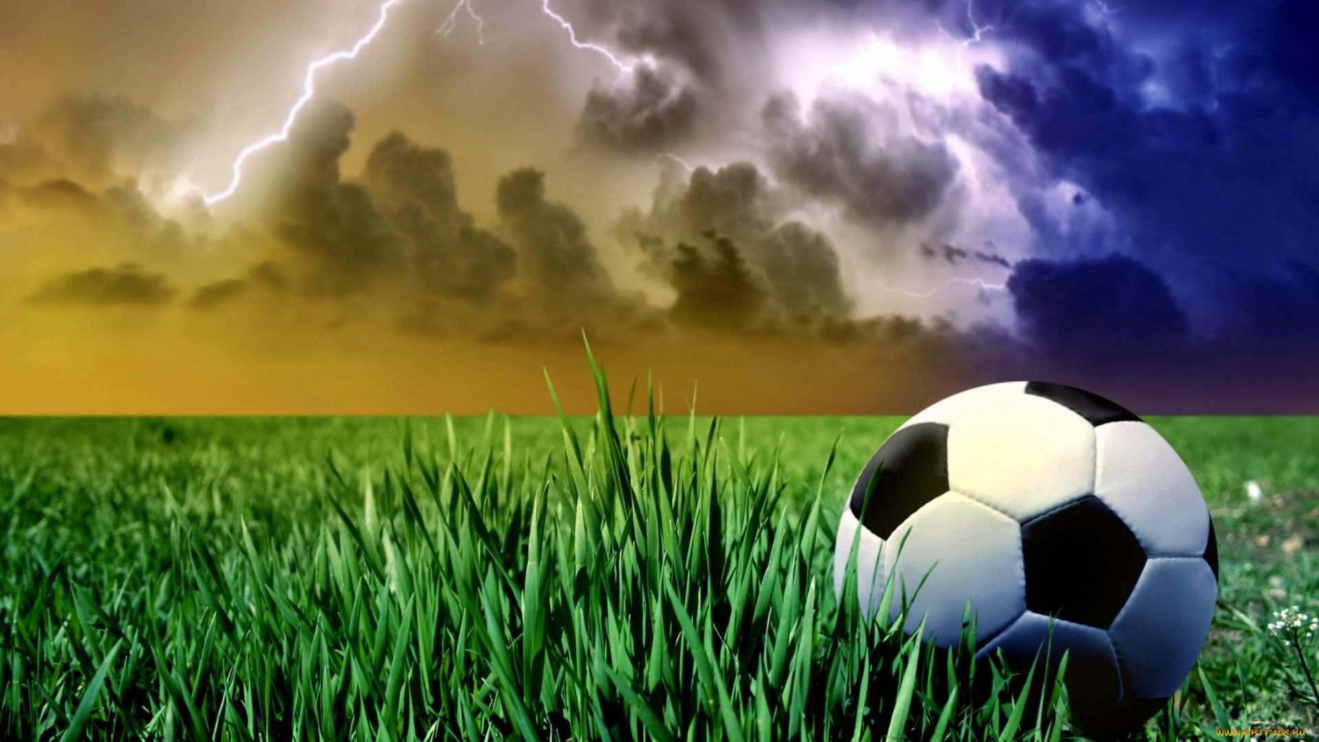 Photo Of A Soccer Ball On The Field