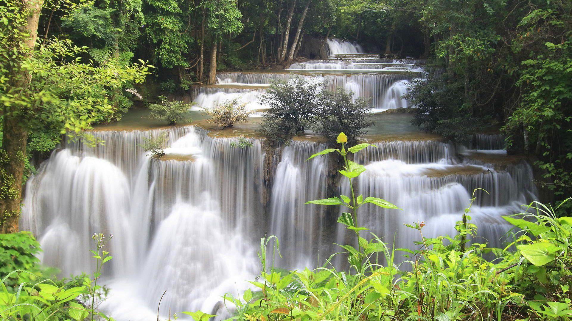 Photo Waterfall Cascade Nature