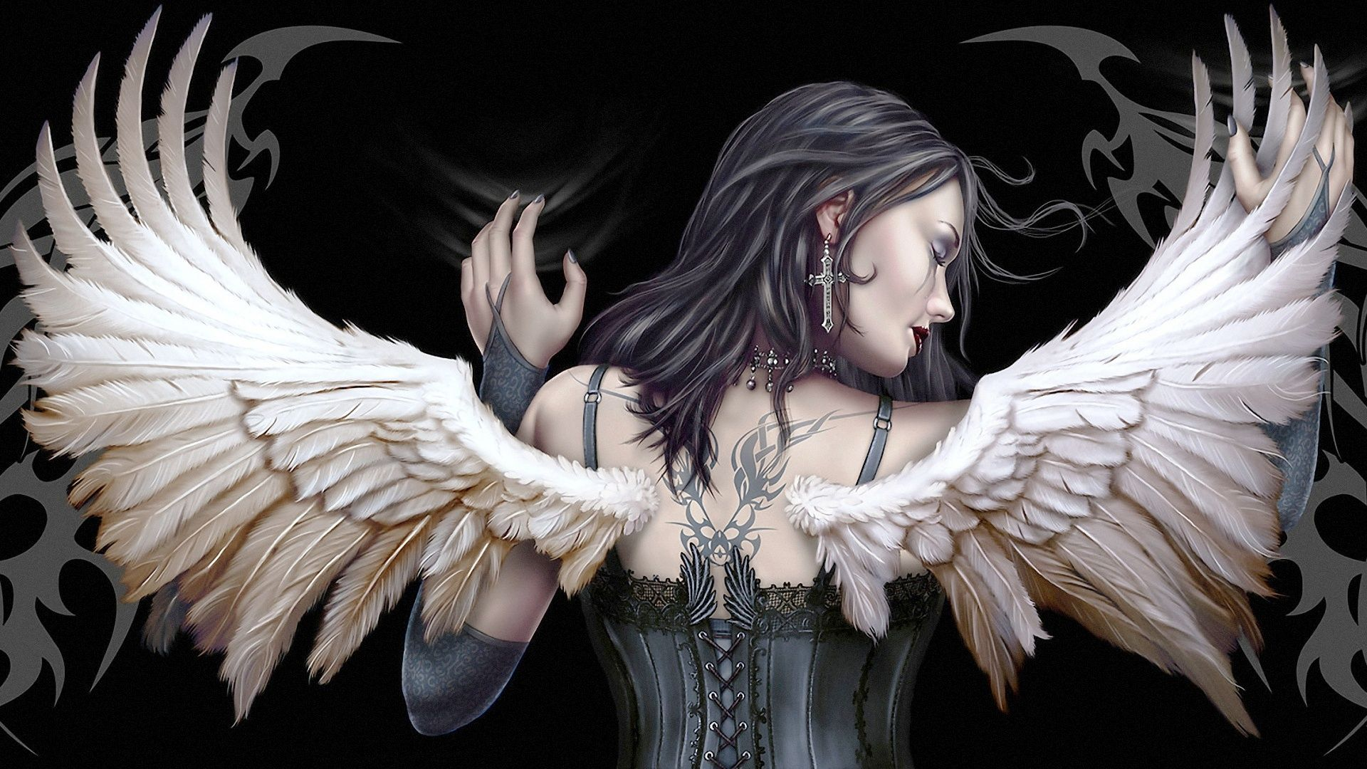 Pictures Black Angel Girl