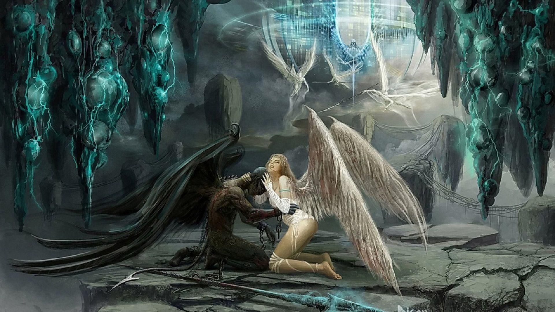 Pictures Fantasy Love Demon And Angel