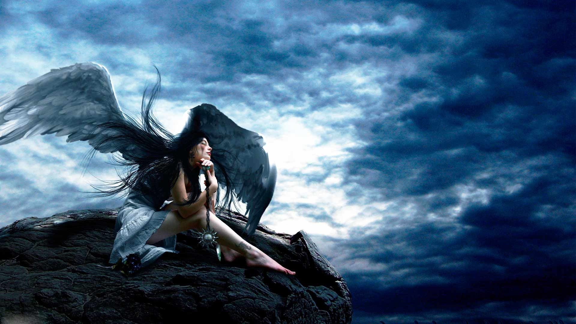 Pictures Of Angel Wings Girl Fallen