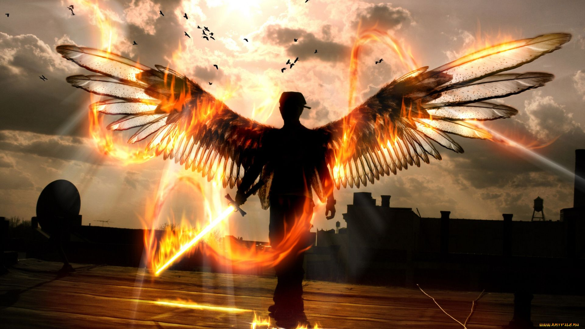 Pictures Of Male Angel With Wings