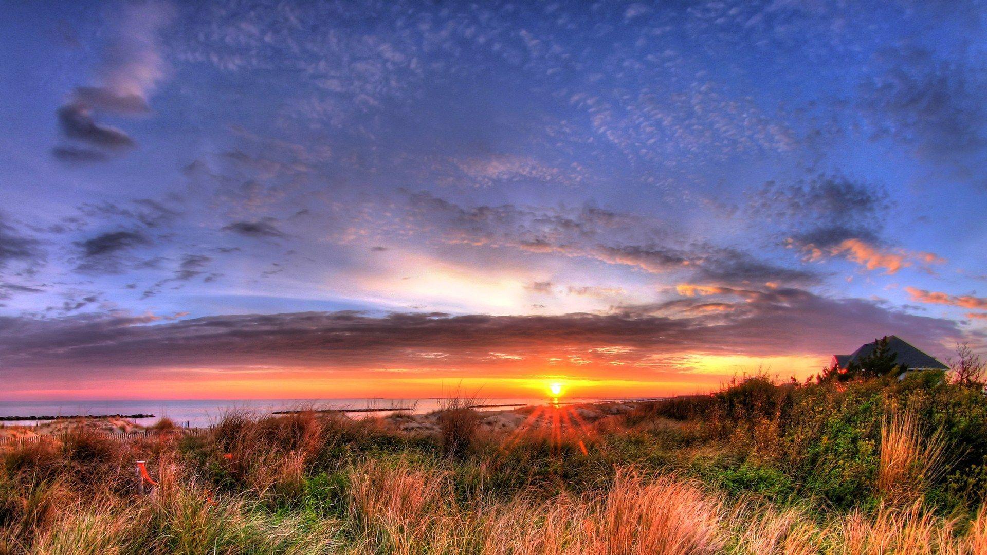Pictures Sunset Sunrise Nature