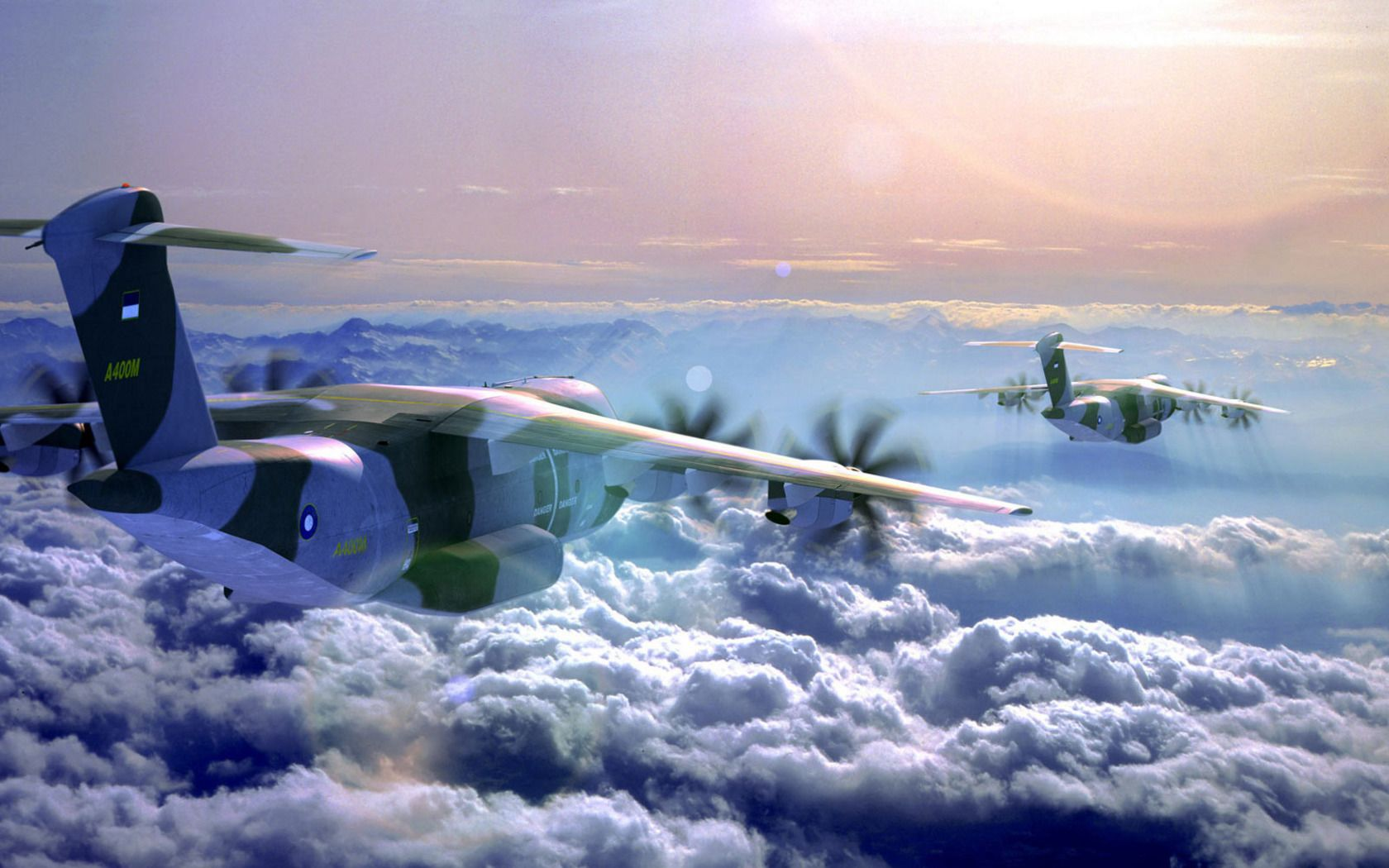Plane Above The Clouds Pictures