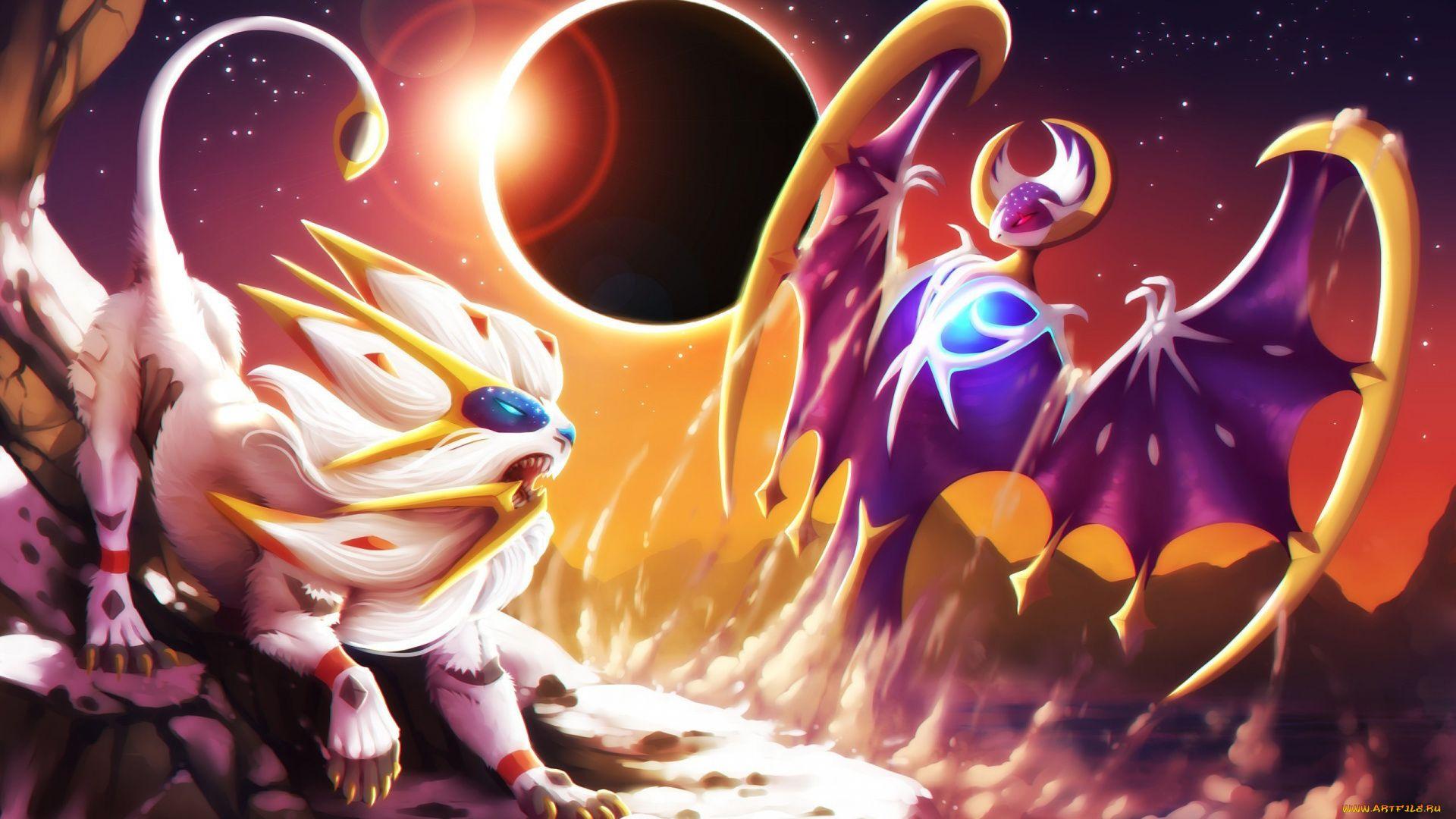 Pokemon Solgaleo And Lunala