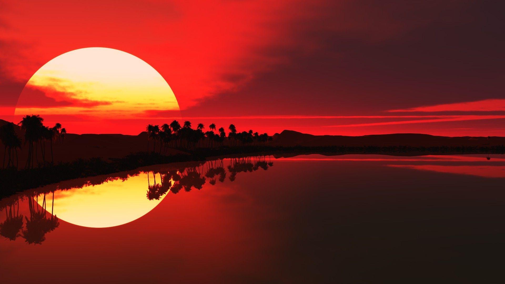 Red Sunset China