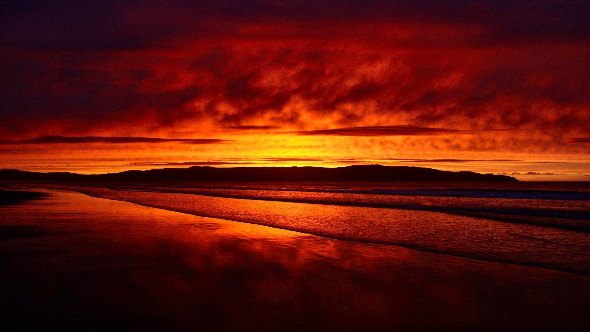 Red Sunset Wallpaper
