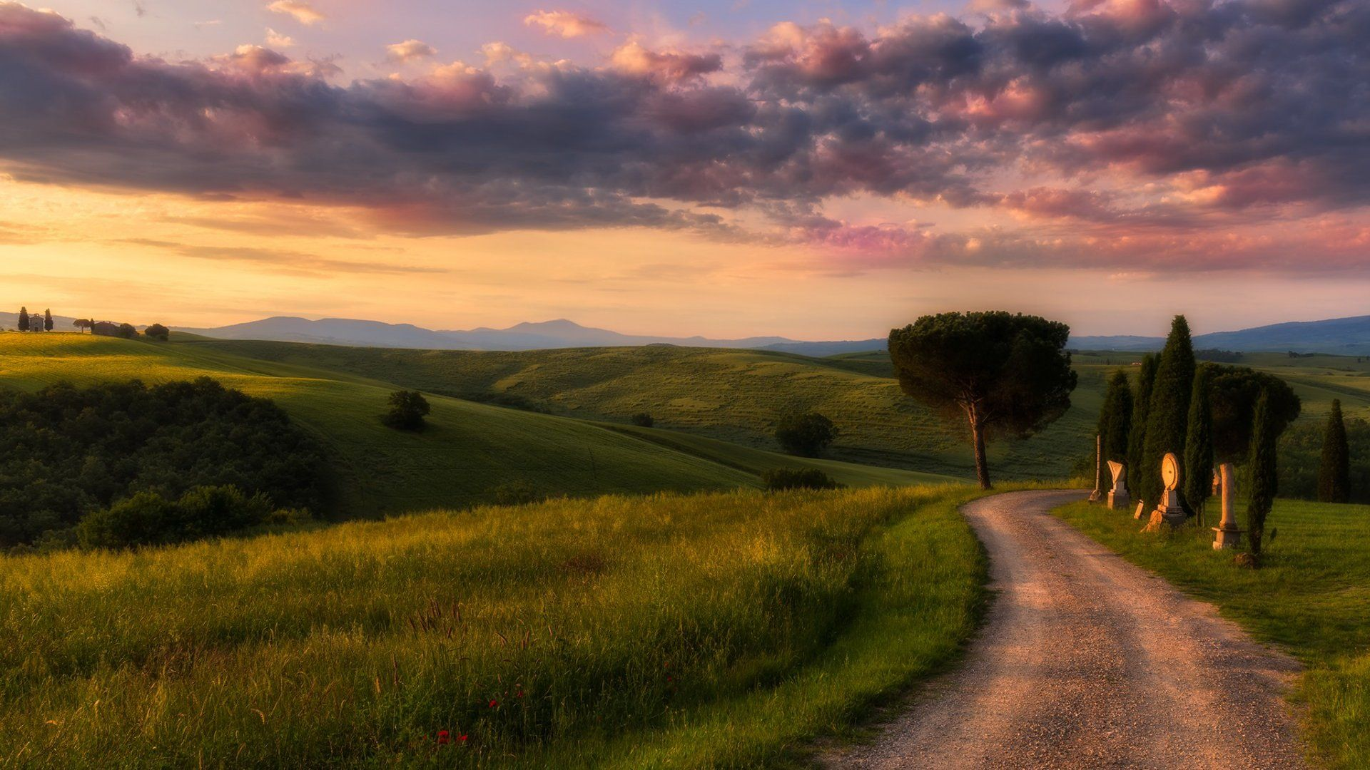 Road Tuscany Landscape