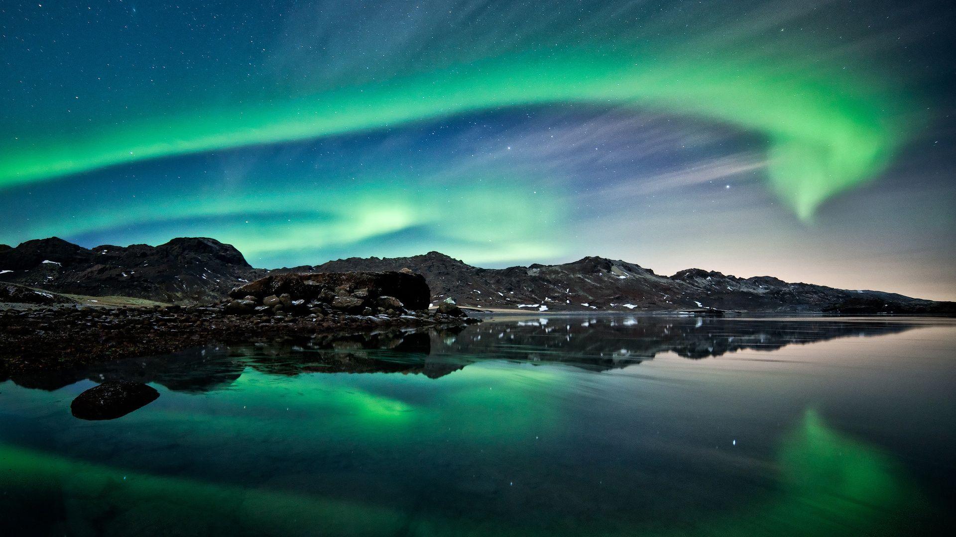 Screensaver On Your Desktop Northern Lights